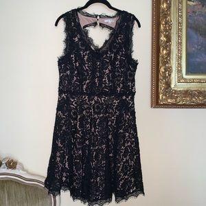 Lace A-Line Sleeveless dress